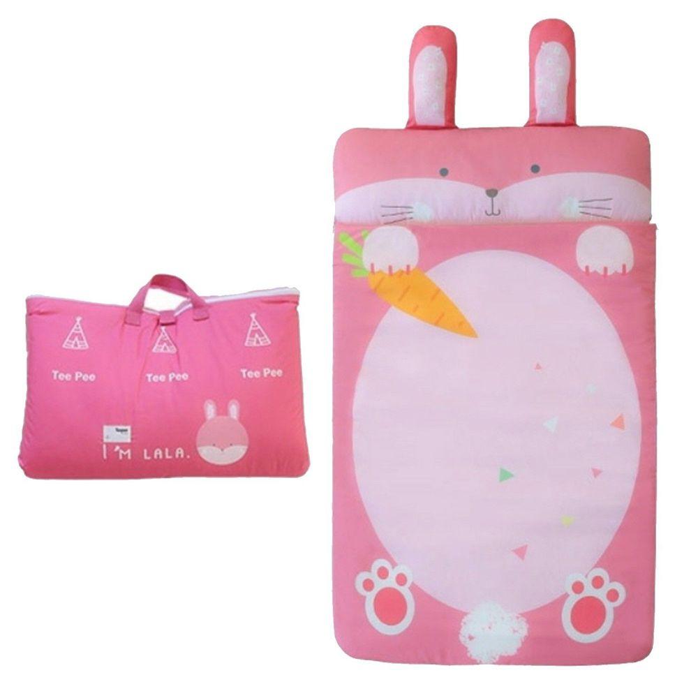 韓國 Teepee - 四季用防蟎抗菌兒童睡袋(有拉鍊)-粉嫩小兔子