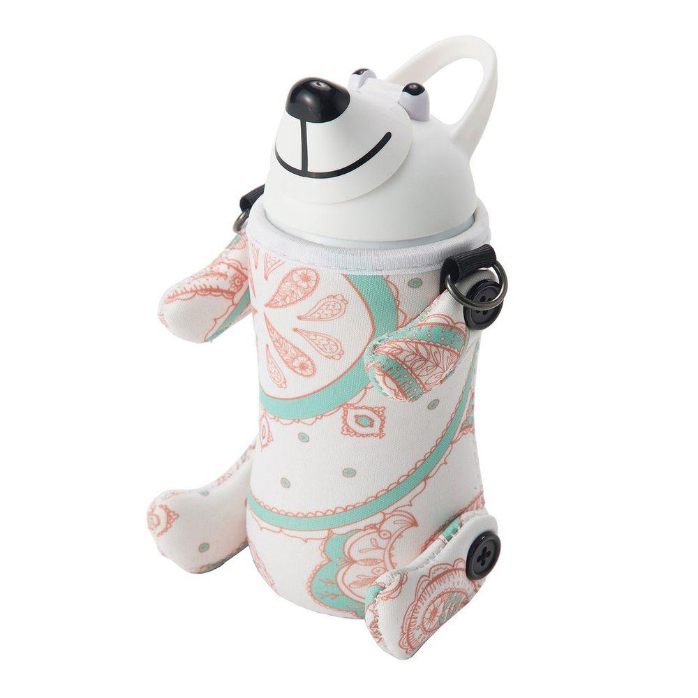 日本Thermo mug - 動物造型不鏽鋼水壺-白色轉轉熊 (380ml)