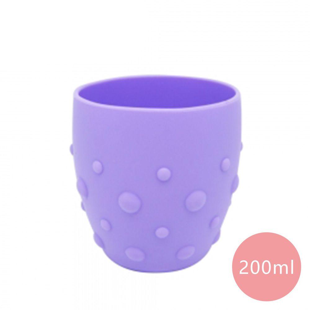 MARCUS&MARCUS - 動物樂園矽膠防滑學習杯-紫色-200ml
