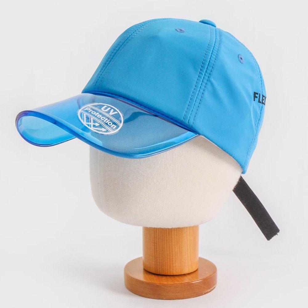 韓國 Babyblee - 抗UV遮陽板棒球帽-藍 (頭圍:50-54cm)