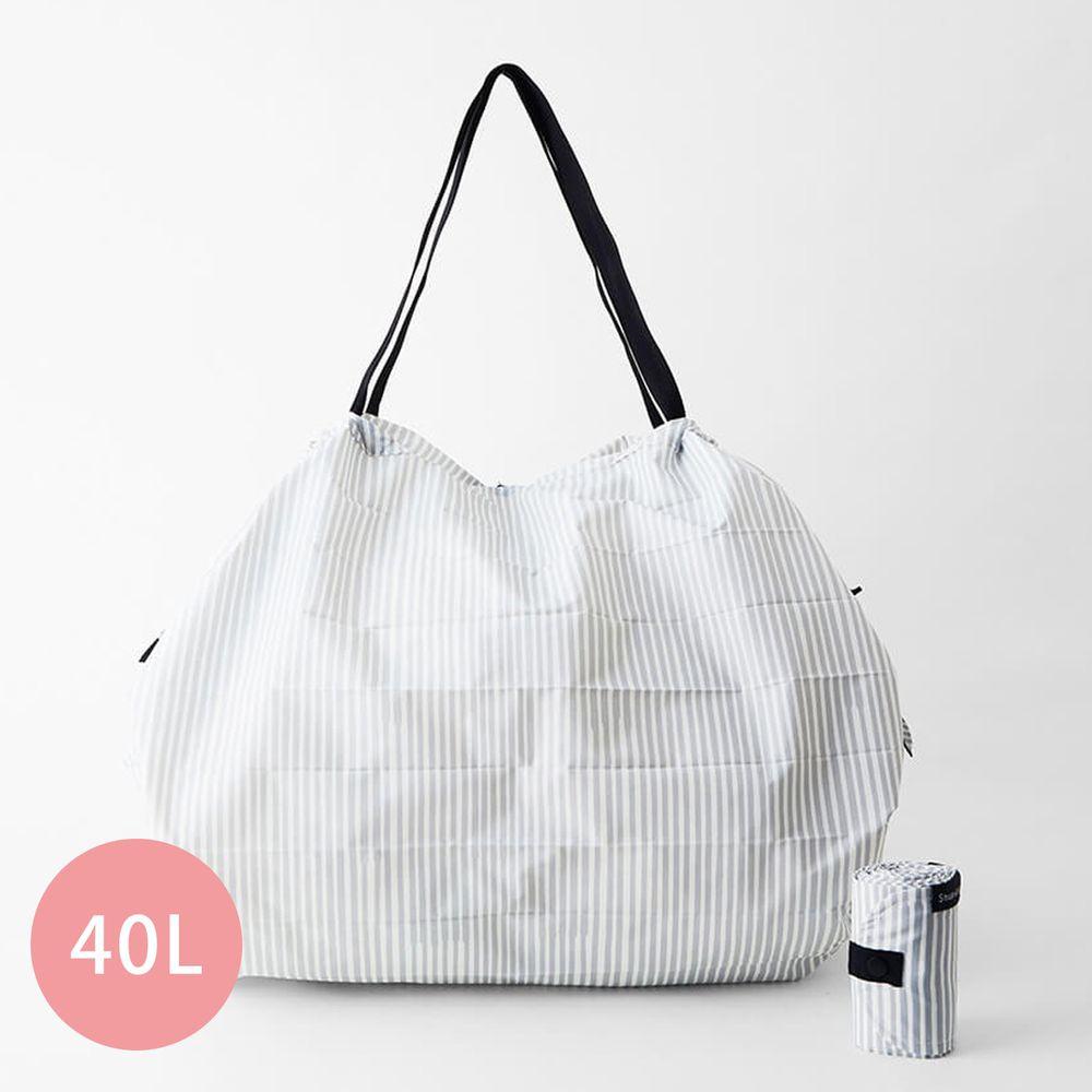 日本 MARNA - Shupatto 秒收摺疊購物袋(可掛購物籃)-五週年限定升級款-文青手帳 (L(50x38cm))-耐重15kg / 40L