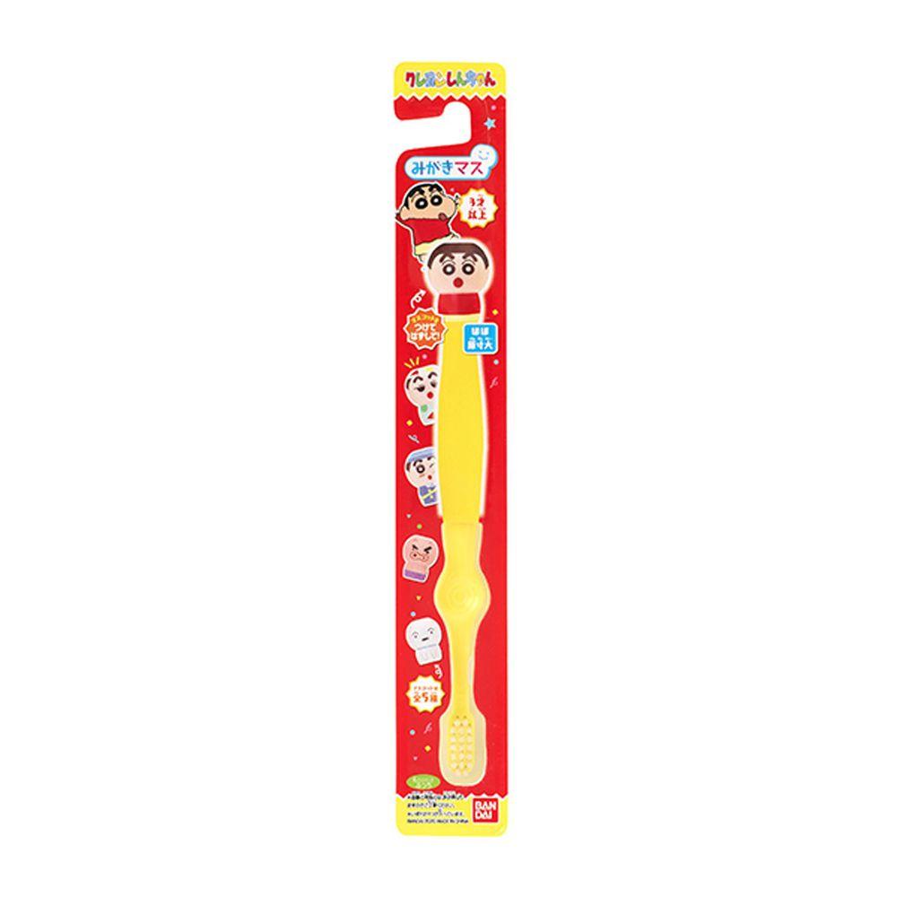 日本 Bandai - 蠟筆小新牙刷-3歲以上-1入(附公仔握柄套)