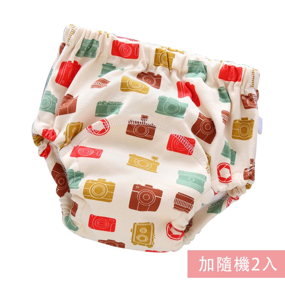 JoyNa - 可愛印花六層紗4層學習褲-3件入-相機+隨機2入