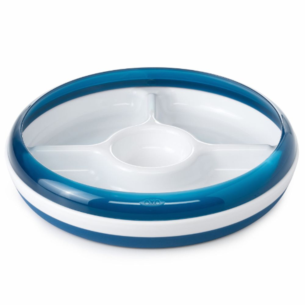 美國 OXO - OXO tot 分格餐盤-海軍藍