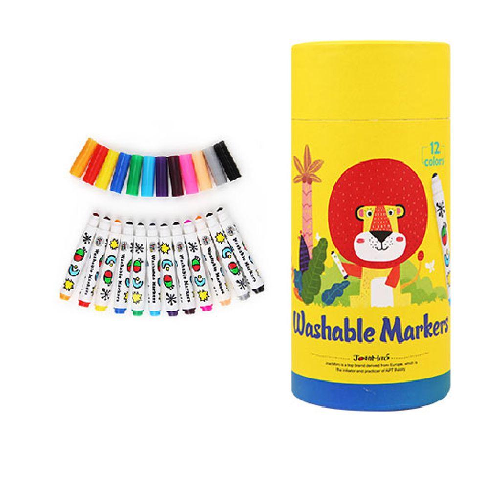 西班牙 JoanMiro - 幼兒圓頭可水洗彩色筆-12色