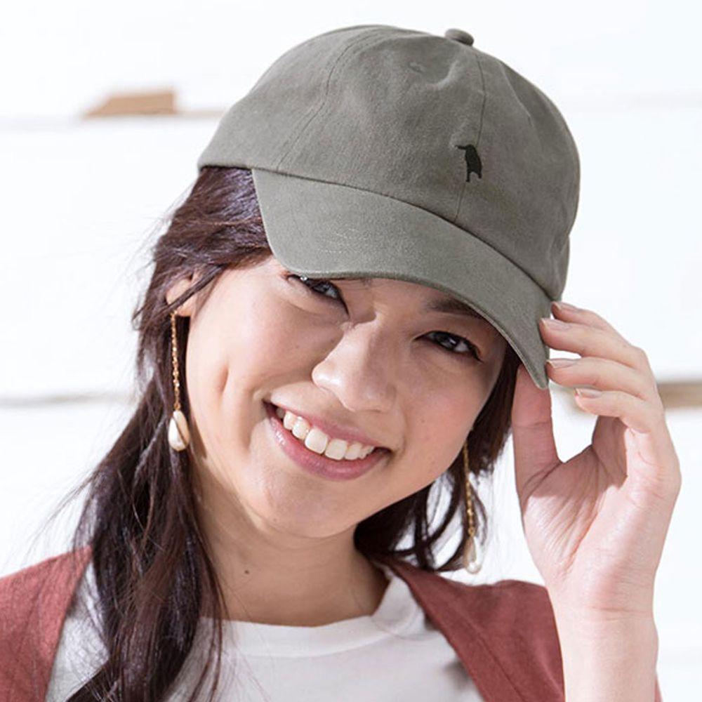日本 irodori - 【irodori】logo簡約刺繡純棉棒球帽-深灰