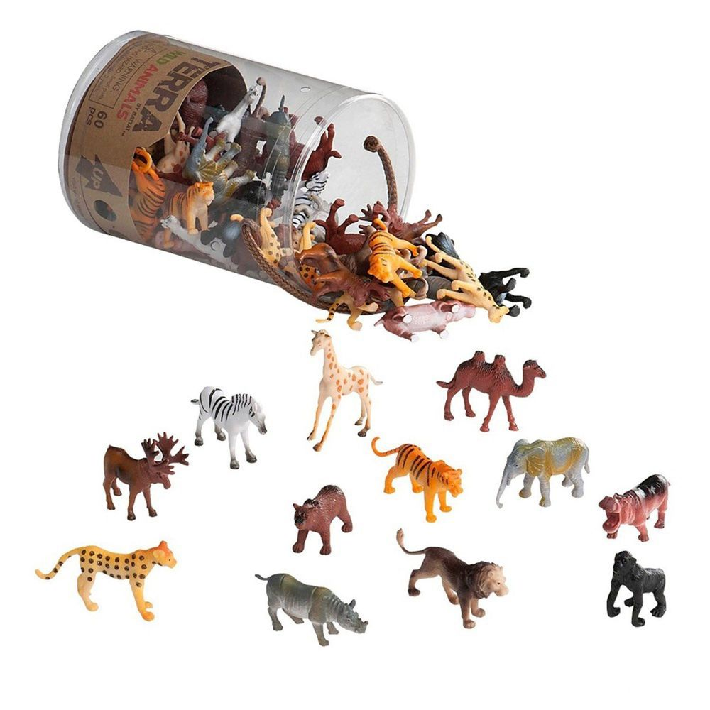 B.TOYS - TERRA 野生動物-60PCS(共12種動物,每種各5隻)