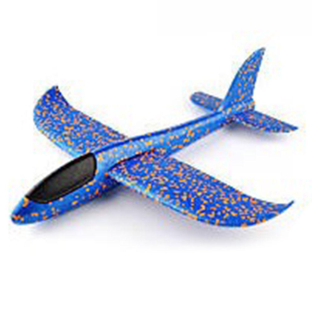 樂彩森林 - 手拋特技飛機-藍-48*48*12公分(展開)