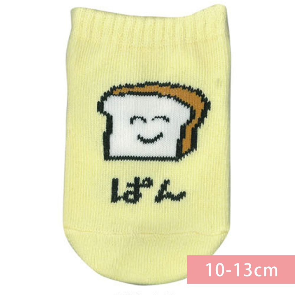 日本 OKUTANI - 童趣日文插畫短襪-吐司-黃 (10-13cm(1-3y))