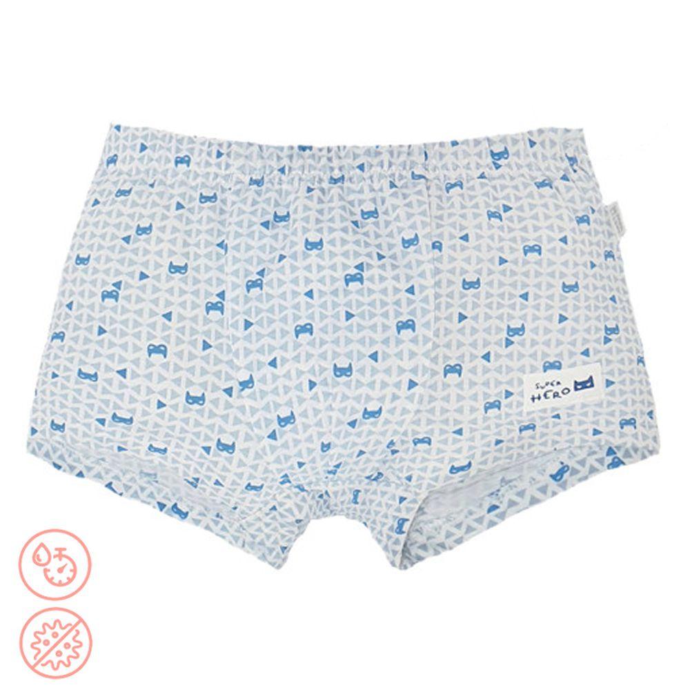 韓國 Ppippilong - 速乾透氣抗菌四角褲(男寶)-藍色蝙蝠俠