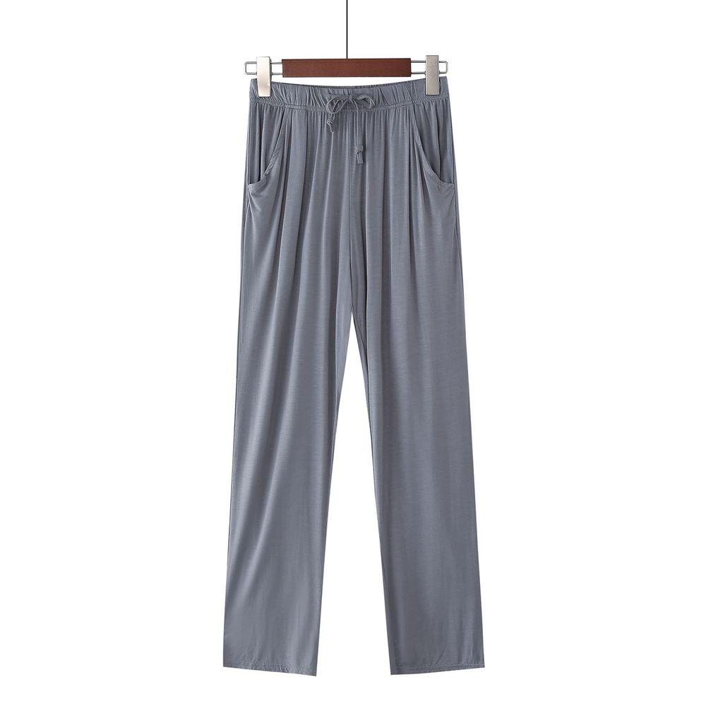莫代爾柔軟涼感七分褲-深灰色