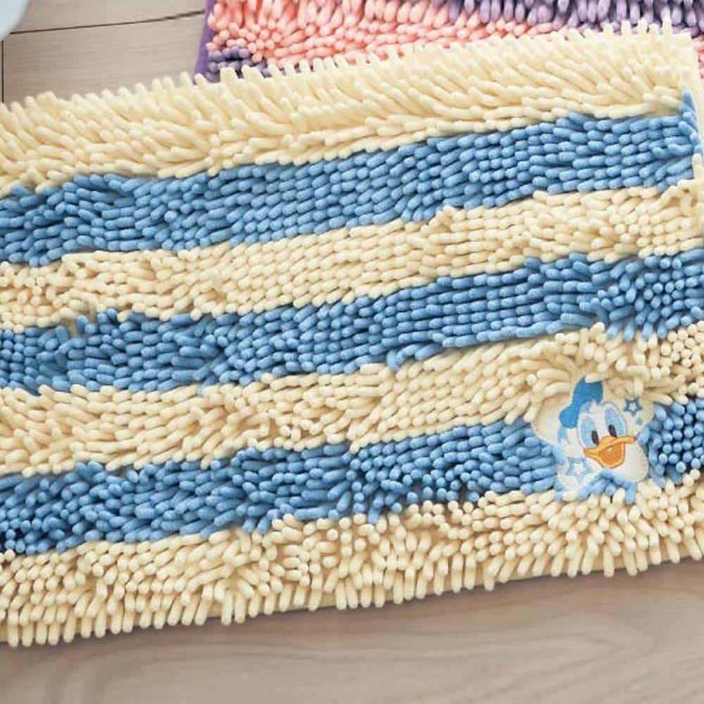 日本千趣會 - 迪士尼 吸水腳踏墊(橫條紋)-唐老鴨-藍白
