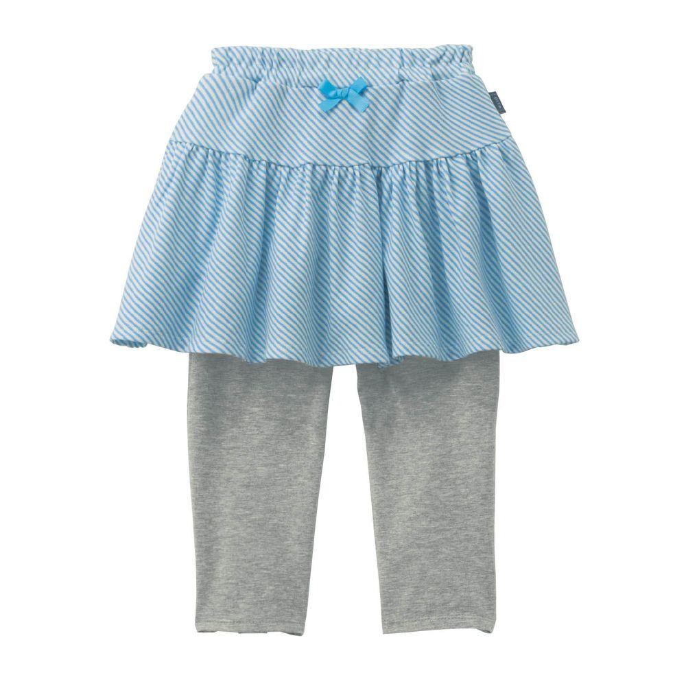 日本千趣會 - GITA 防曬接觸冷感七分內搭褲裙-線條-水藍灰