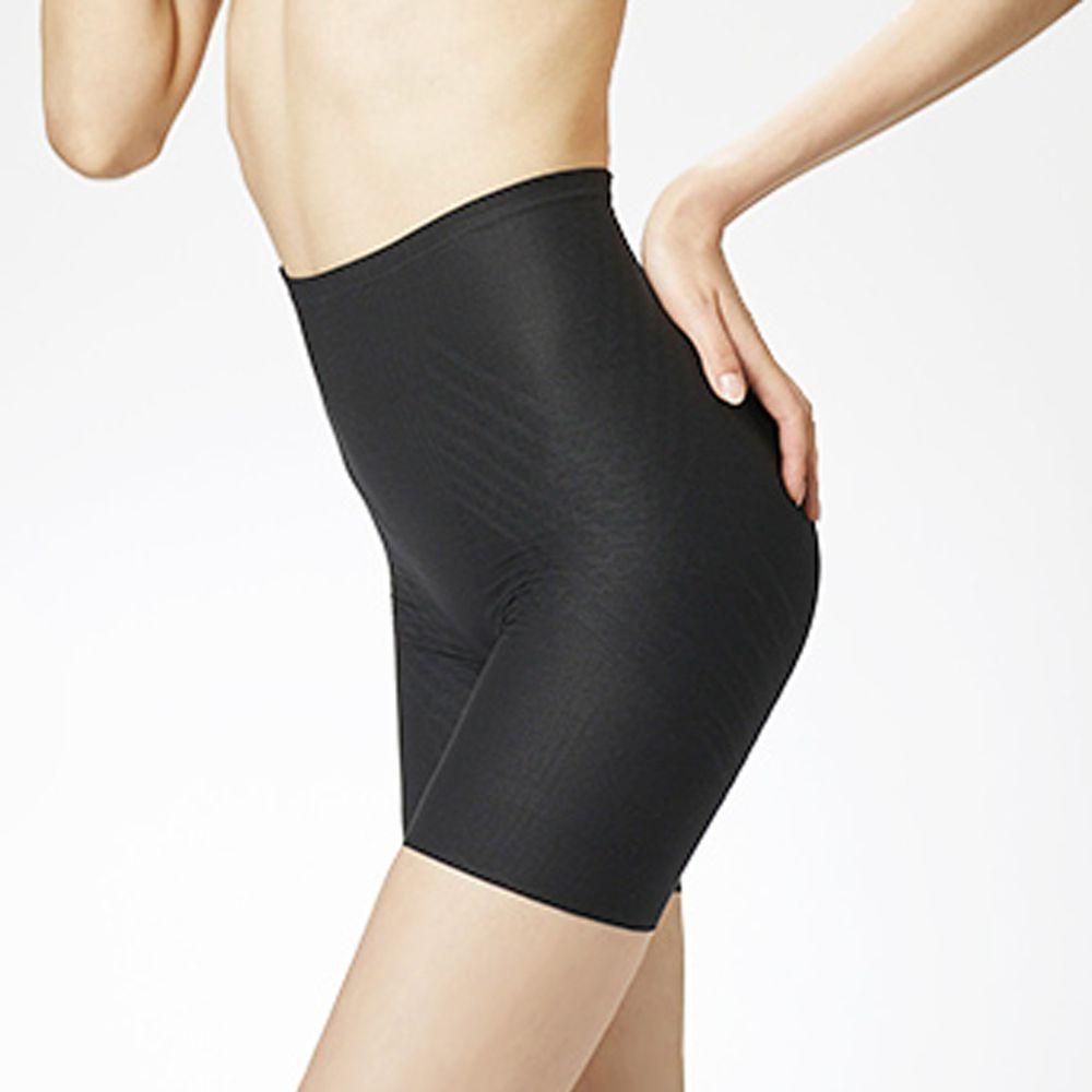日本服飾代購 - 日本製 輕薄透氣穩定骨盤提臀塑身褲-大轉子加強款-成熟黑