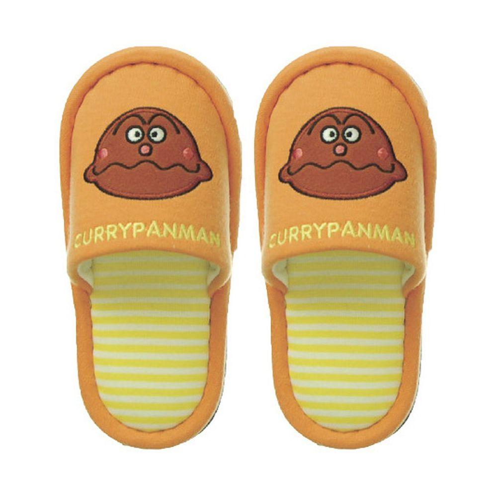 日本千趣會 - 兒童室內拖鞋-咖哩麵包超人-橘 (14-16cm)
