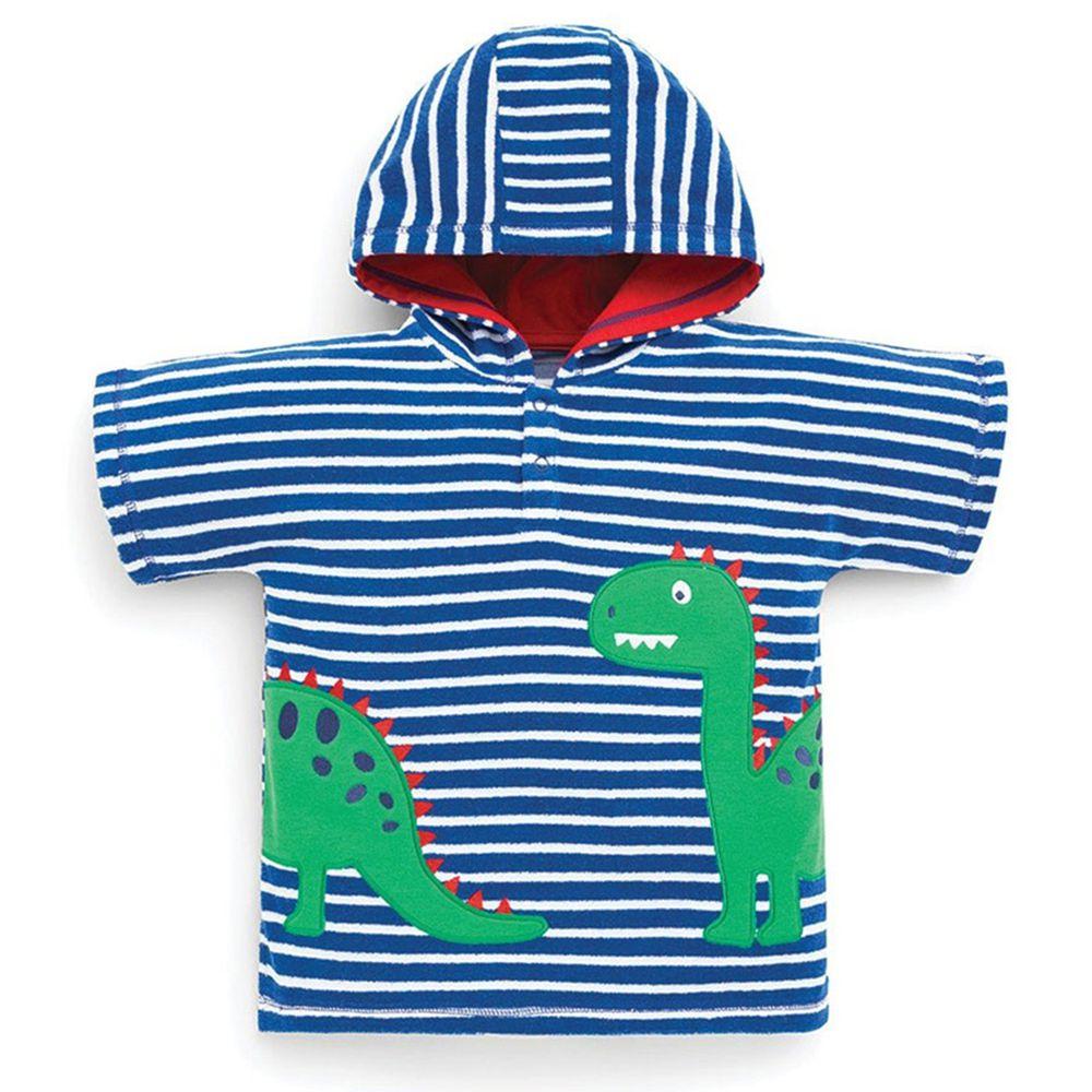 英國 JoJo Maman BeBe - 嬰幼兒/兒童游泳浴巾-恐龍