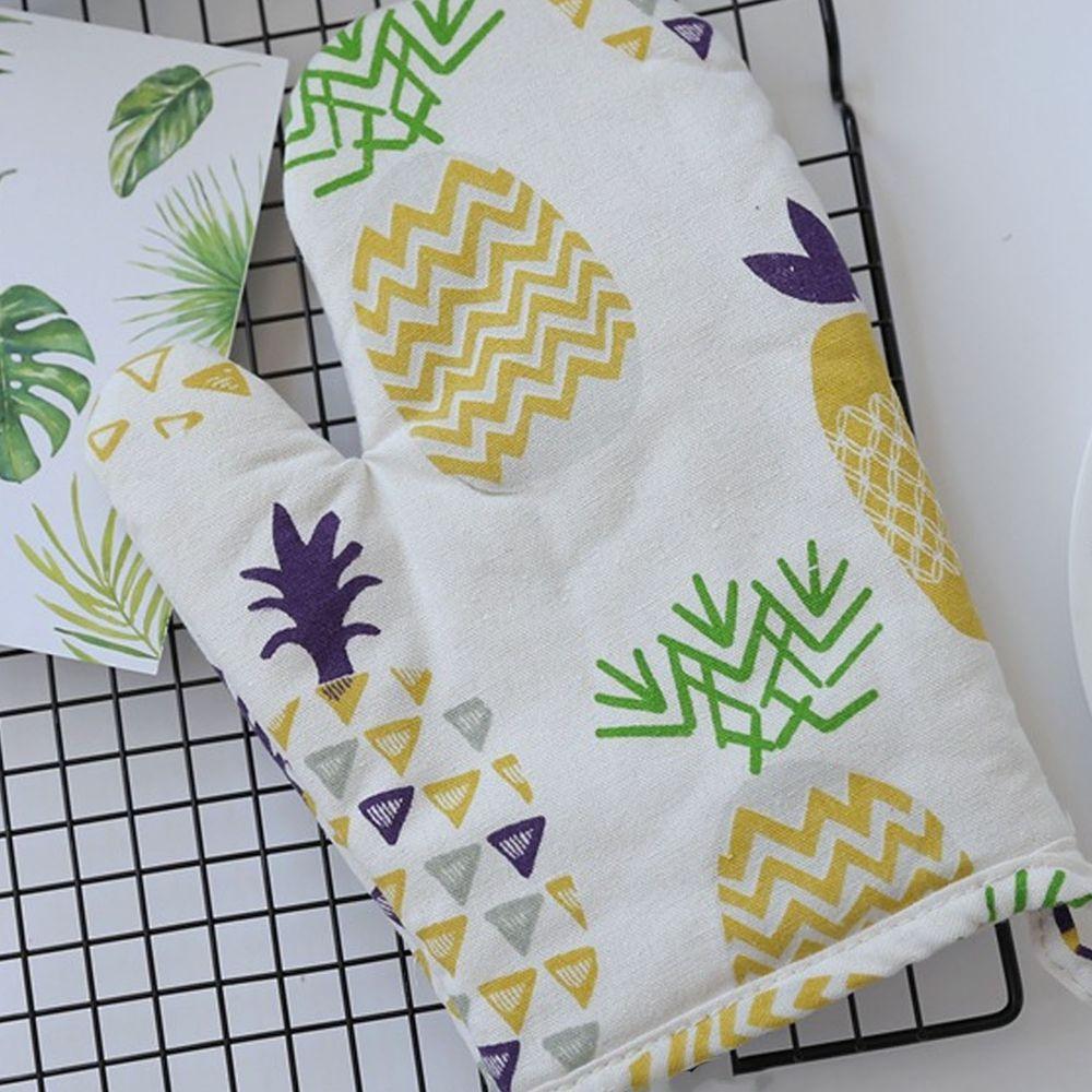 清新植物造型隔熱手套-鳳梨-黃色-單入