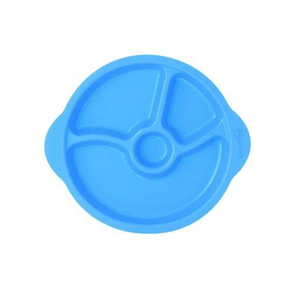 韓國 sillymann - 100%鉑金矽膠防滑幼兒學習餐盤-藍色