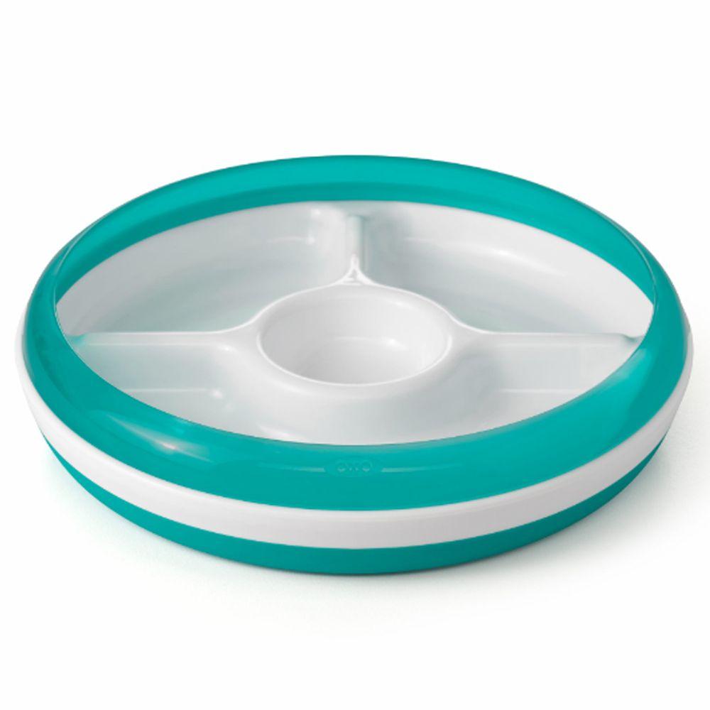 美國 OXO - OXO tot 分格餐盤-靛藍綠