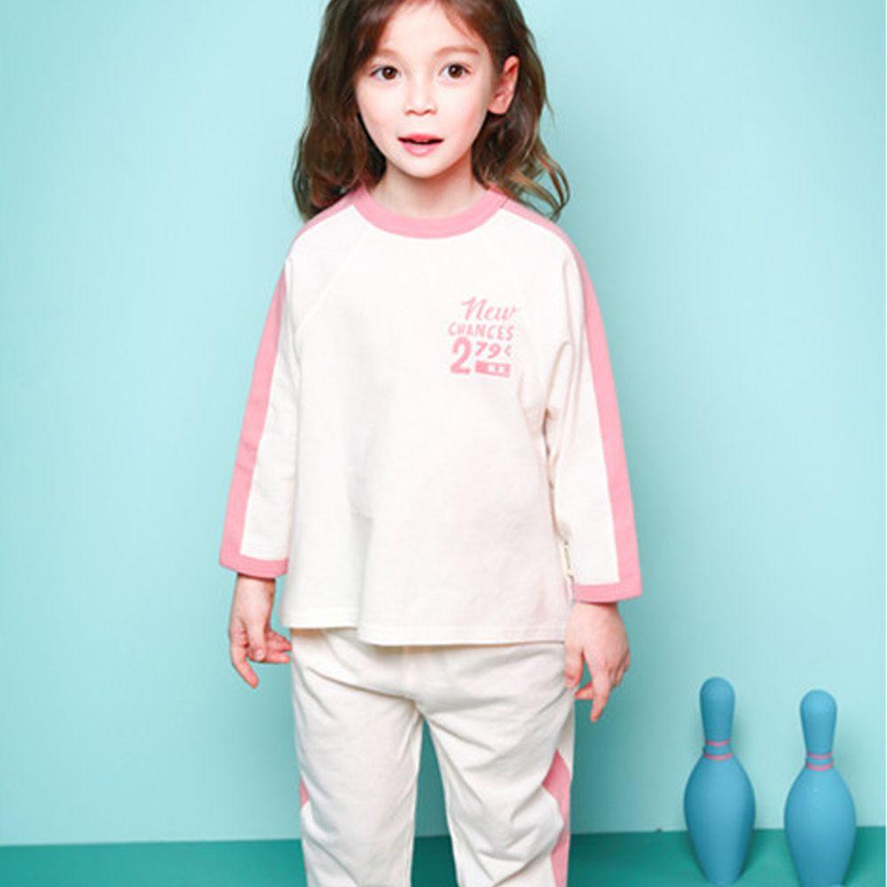 韓國 Jelispoon - 寬鬆舒適感運動風套裝-粉紅