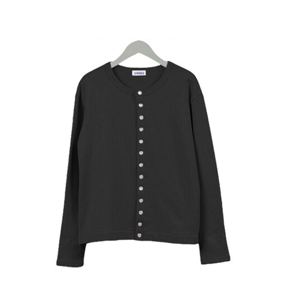日本女裝代購 - 2way珍珠鈕扣裏毛上衣/外套-卡其