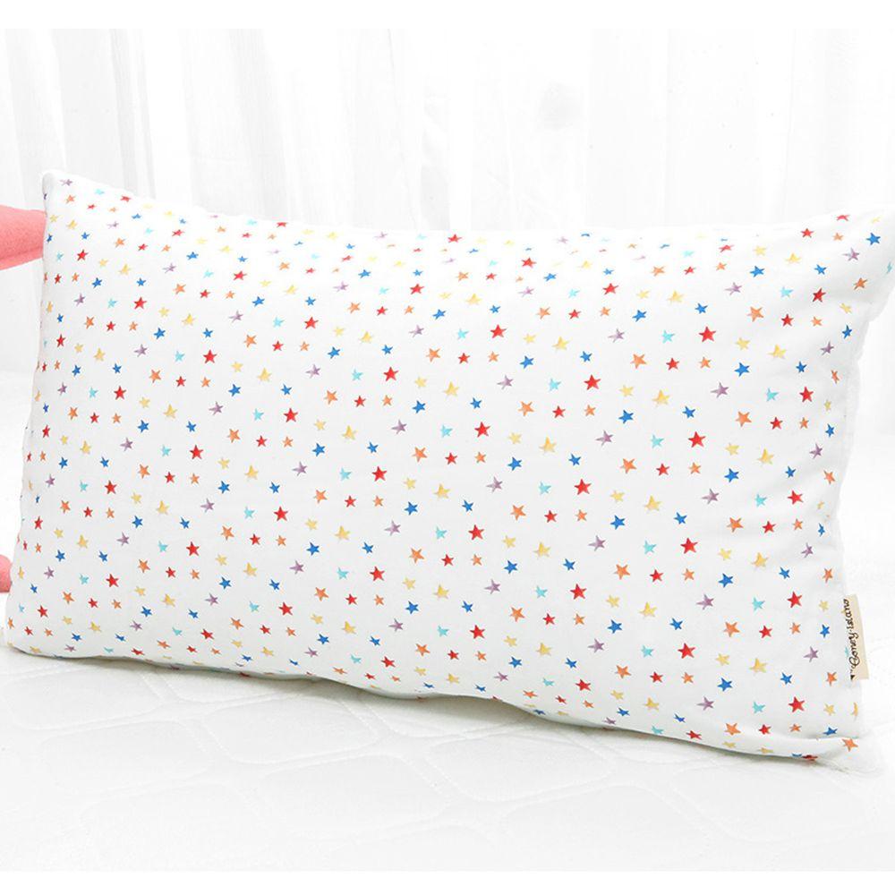 韓國 Coney Island - 雙面材質抗菌防蟎水洗枕頭-七彩星星 (50X30cm)-枕套*1 + 枕芯*1