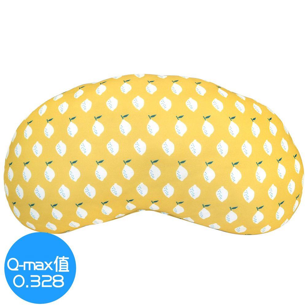 日本 DAIKAI - 接觸涼感豌豆枕/午睡枕/枕頭-清新檸檬-黃 (45x25cm)