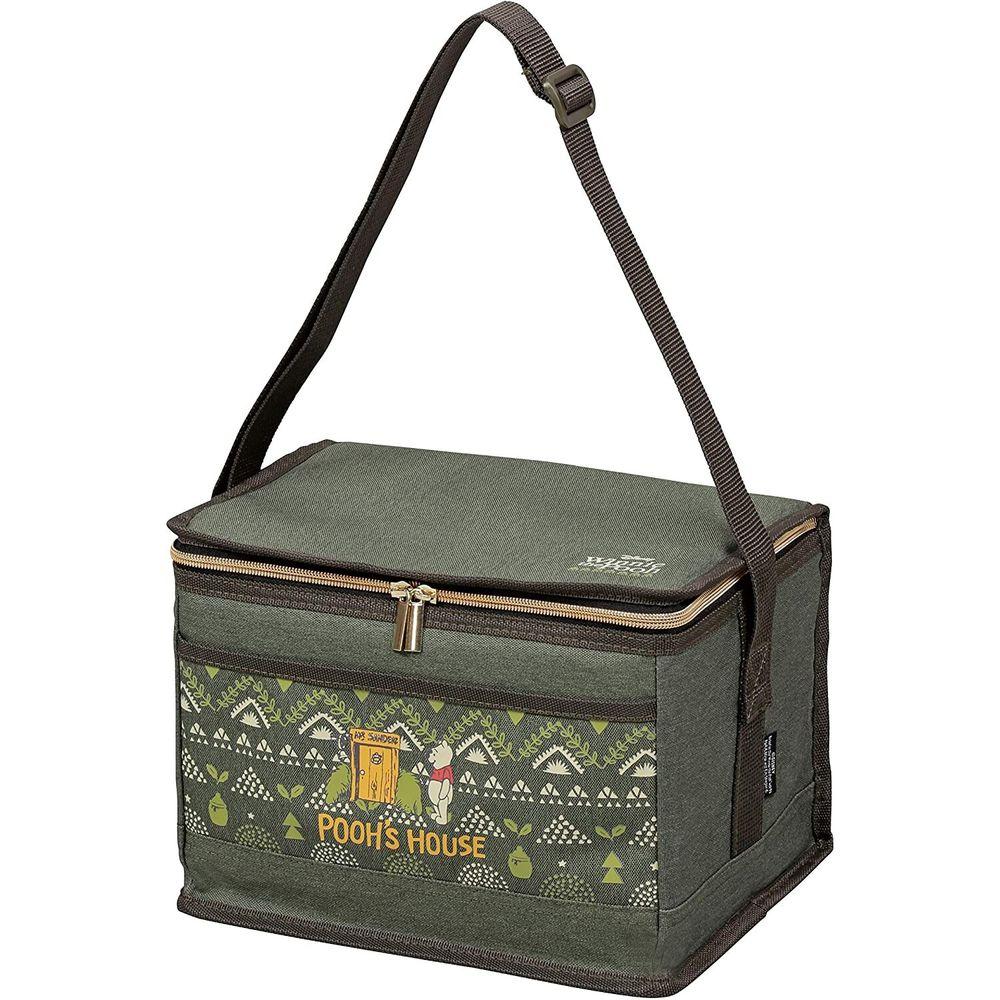 日本 Pearl 金屬 - 迪士尼方形保冷袋-維尼-綠 (6L(28x18x18.5cm))