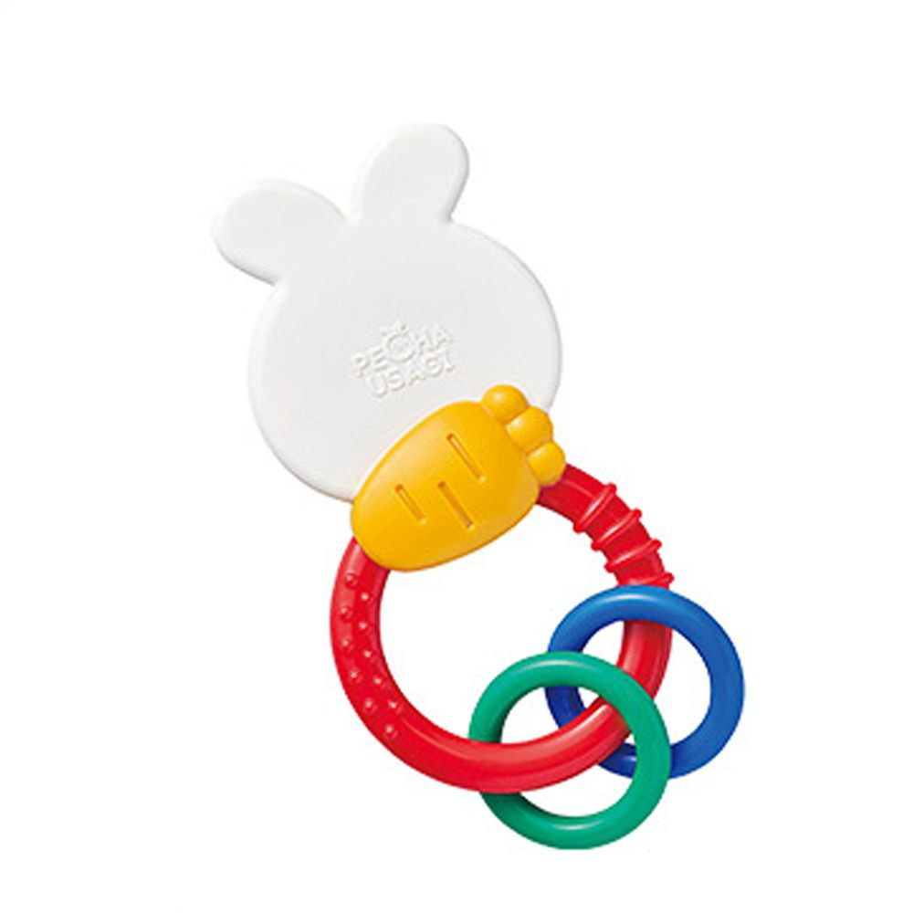 日本 Toyroyal 樂雅 - 沛醬兔固齒器握環搖鈴
