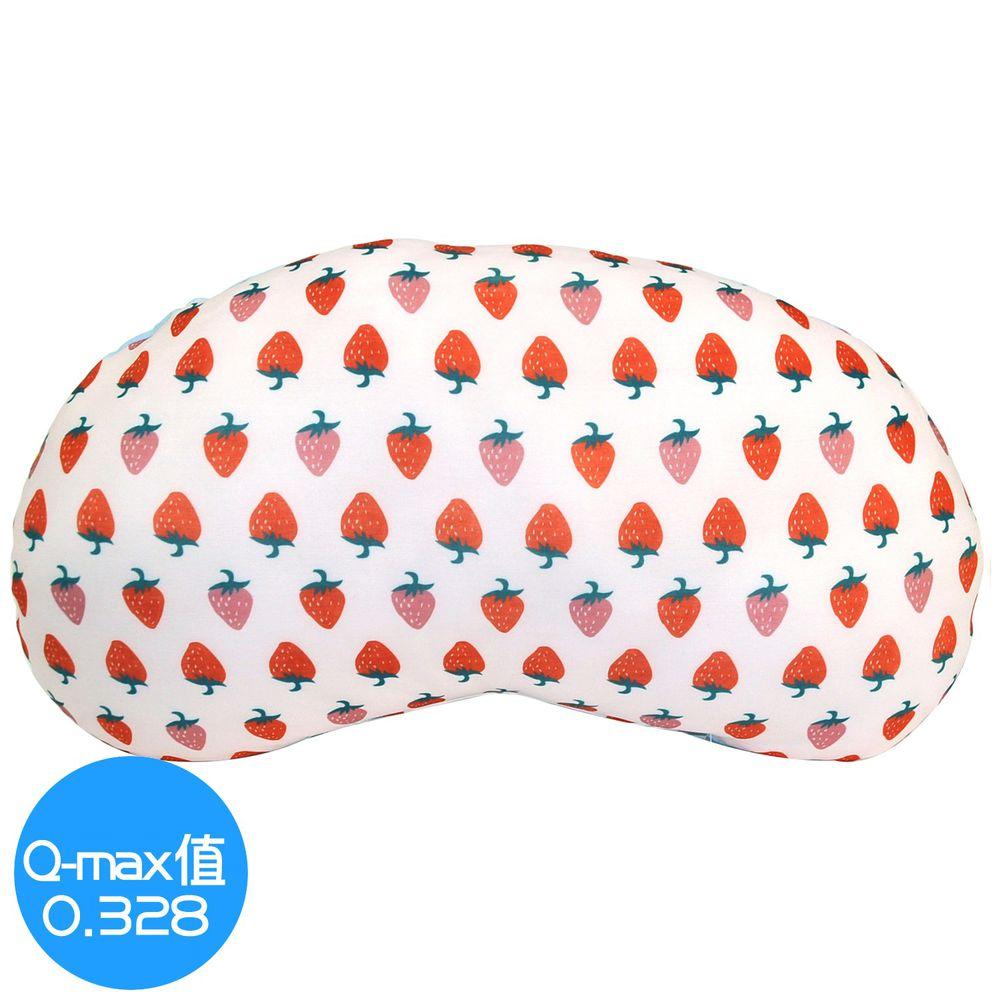 日本 DAIKAI - 接觸涼感豌豆枕/午睡枕/枕頭-香甜草莓-粉紅 (45x25cm)