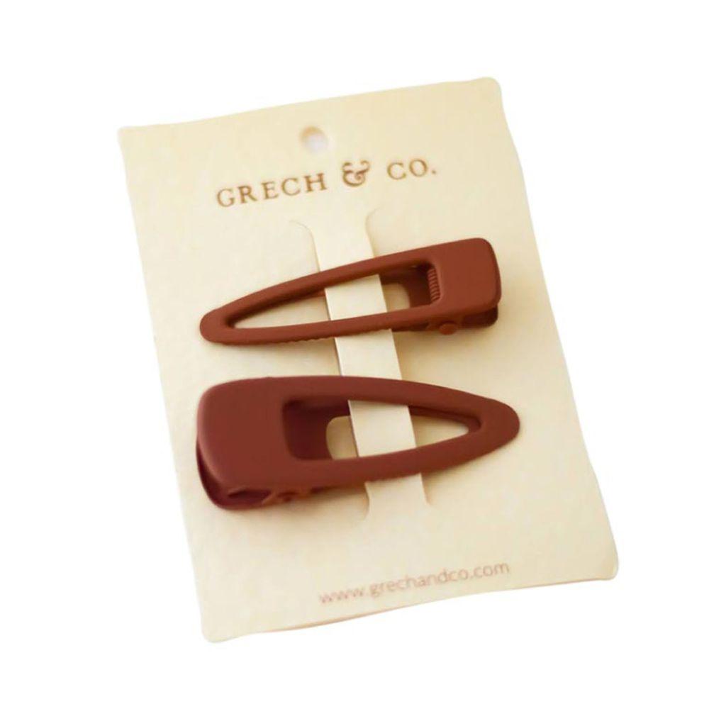丹麥GRECH&CO - 髮夾二入組-緋紅