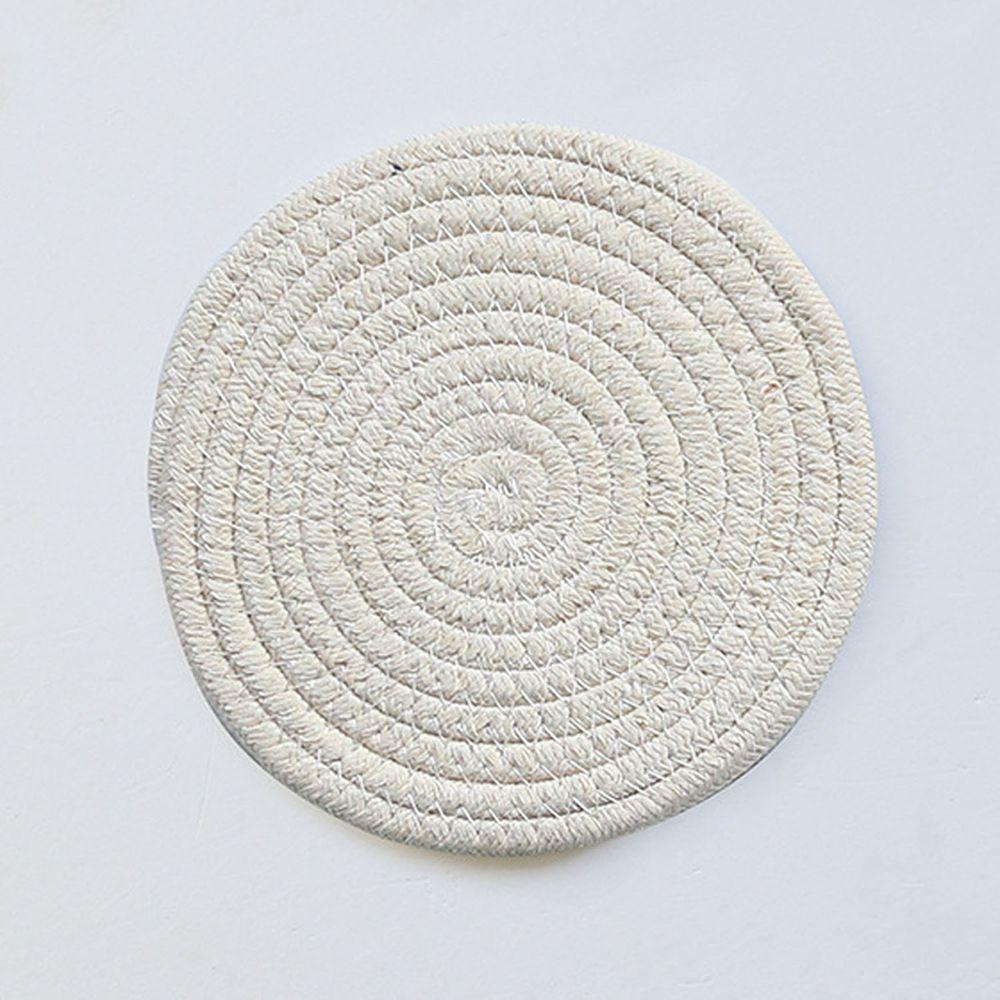 日系感編織隔熱墊-米黃色