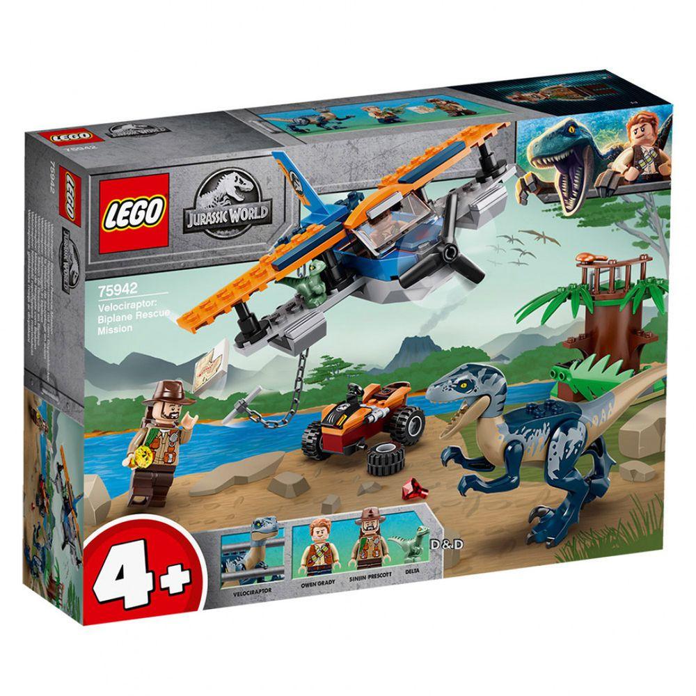 樂高 LEGO - 樂高積木 LEGO《 LT75942 》Jurassic World 侏儸紀世界系列 - Velociraptor: Biplane Rescue Mission-101pcs