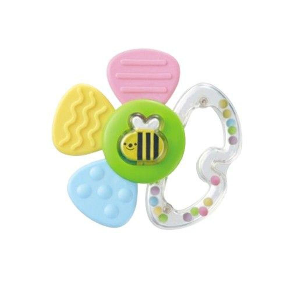 日本 Combi - 蜜蜂花瓣固齒玩具-3個月起