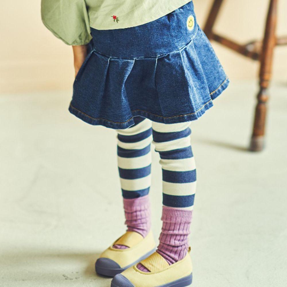 韓國 Mimico - 傘狀單寧牛仔褲裙