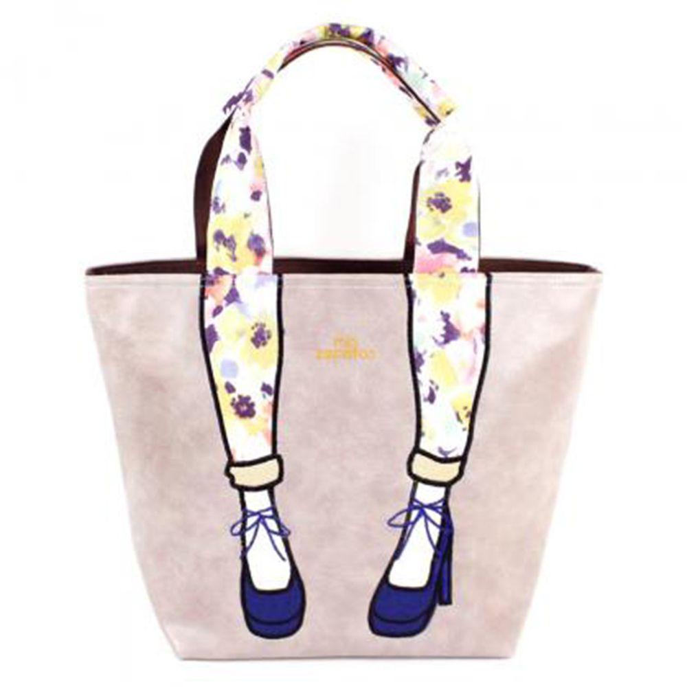 mis zapatos - 肩揹美腿包(皮革)-GY灰色 (25*30*16cm)