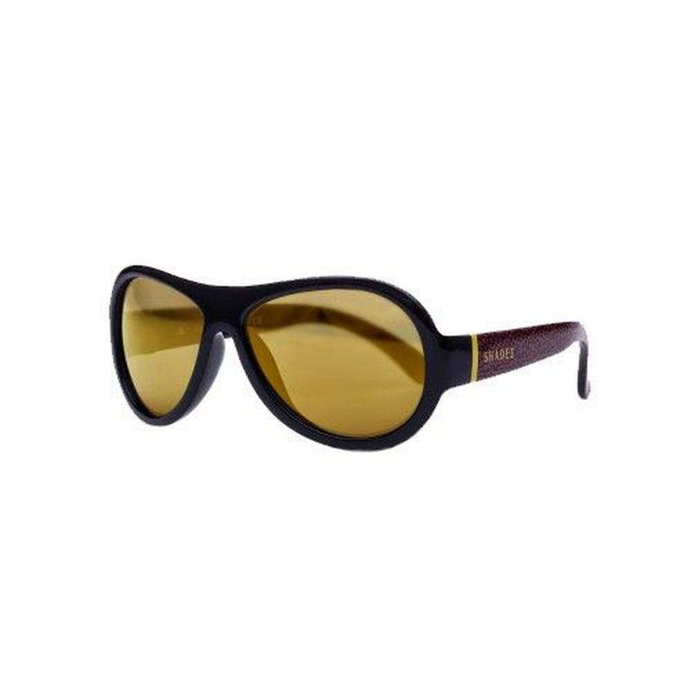 SHADEZ - 可彎折嬰幼兒時尚太陽眼鏡-黑色豹紋 (7Y~12Y)