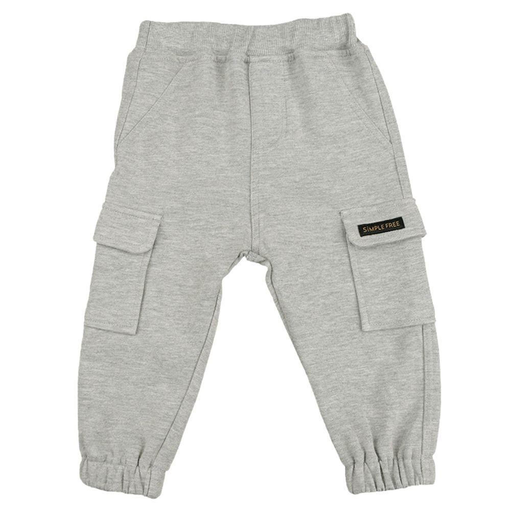 akachan honpo - 10分工作褲-灰色