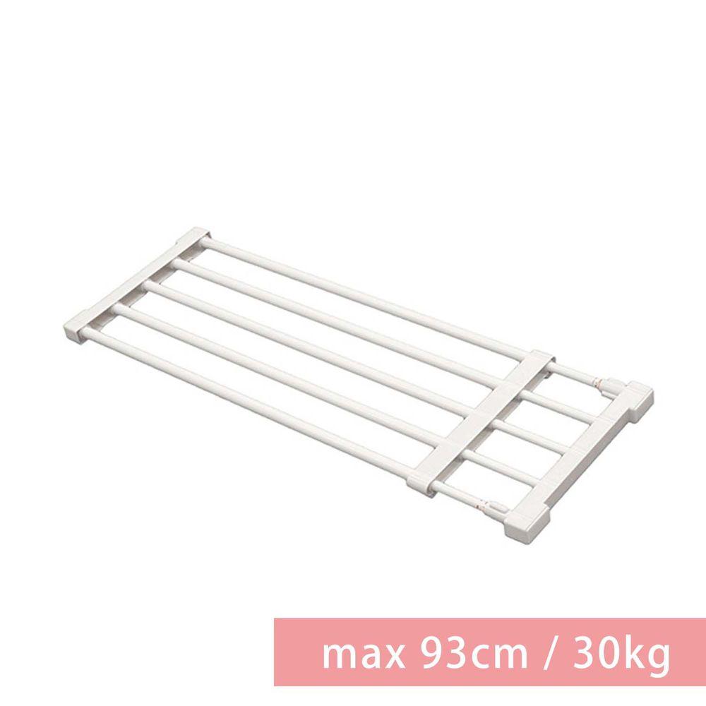 日本平安伸銅 - [層架款] 黑桿全功能伸縮置物架-KB-63B( max 93cm / 30kg )