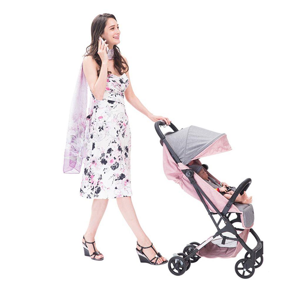 YODA - 超輕量手提登機嬰兒推車-稚氣粉