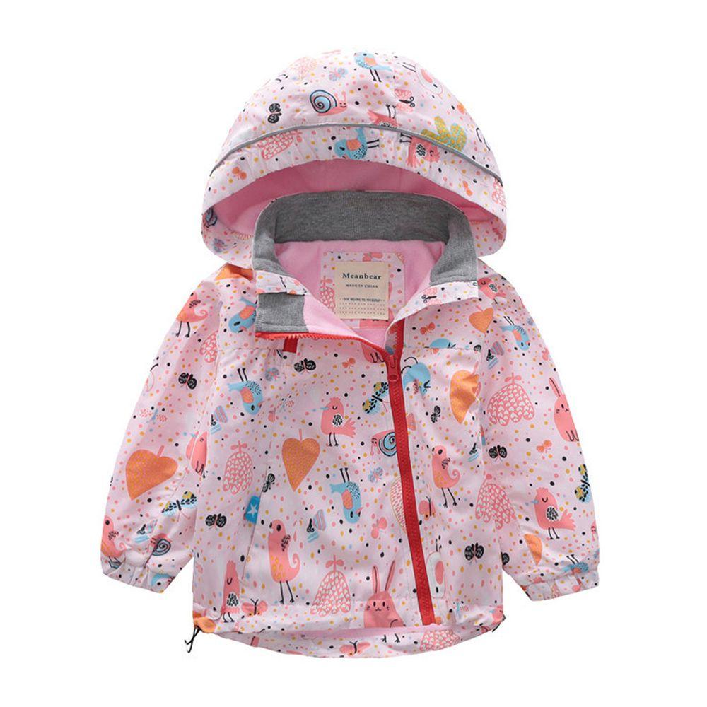 防風防雨加絨衝鋒外套-圓帽-奇妙森林