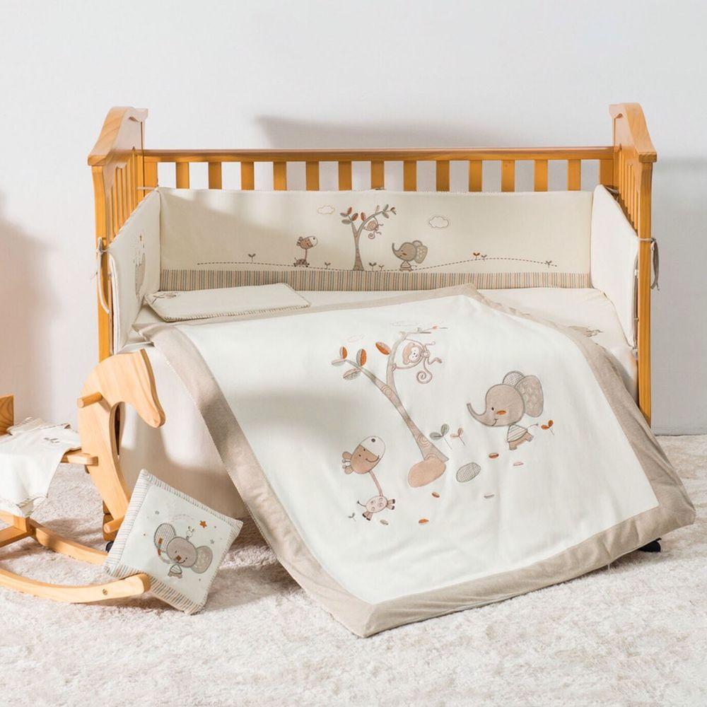 喬依思 - 大象有機綿(床圍為4片式)-淺黃色 (130X70)