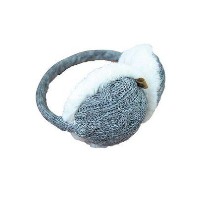 可收納式保暖耳罩(成人款)-針織-灰