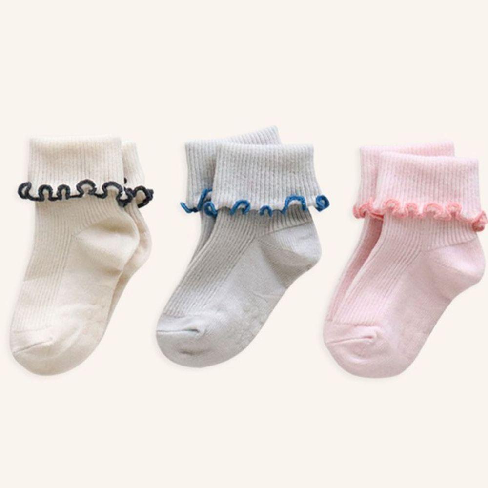 韓國 Kokacharm - 韓國製踝襪-三件組-Sally