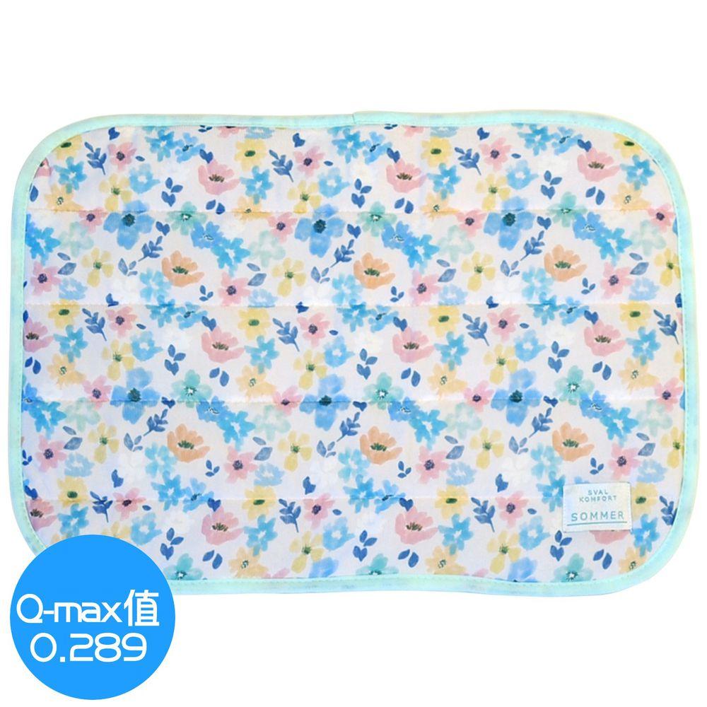 日本 DAIKAI - 接觸涼感枕頭套-百花齊放-粉黃藍 (50x37cm)