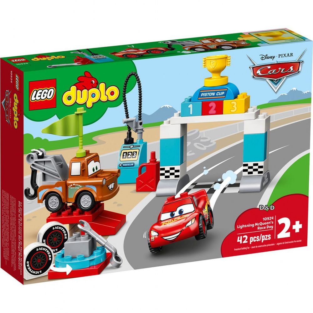 樂高 LEGO - 樂高積木 LEGO《 LT10924 》Duplo 得寶系列 - Lightning McQueen's Race Day-42pcs