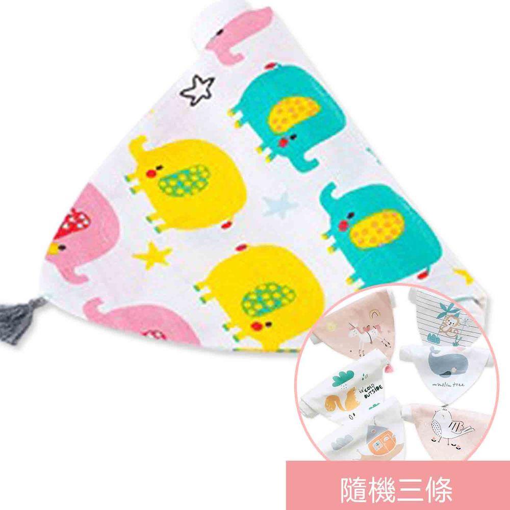荷蘭 Muslintree - 春夏寶寶吸汗墊背巾-4條入-彩色象+隨機3條
