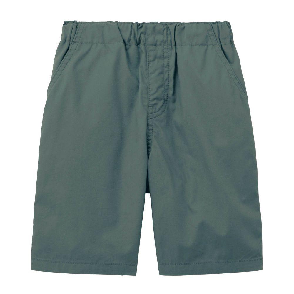 日本千趣會 - GITA 純棉接觸冷感五分褲-墨綠