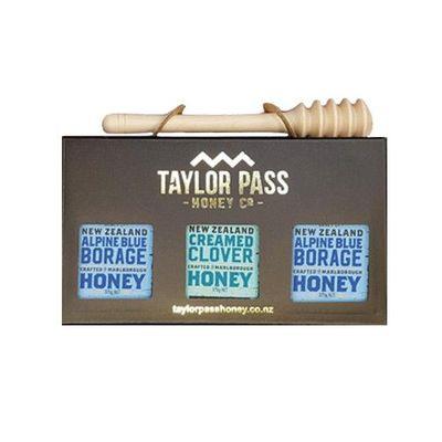 混裝蜂蜜禮盒(琉璃苣x2三葉草x1)-贈 實木蜂蜜棒(北美楓木)價值250元-375gm*3