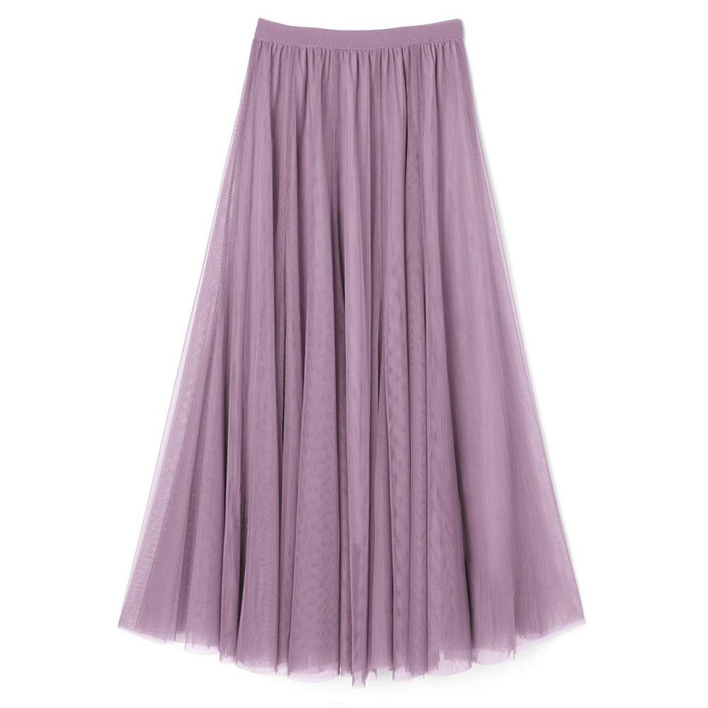日本 GRL - 飄逸顯瘦雙層傘紗裙-香芋紫 (M)